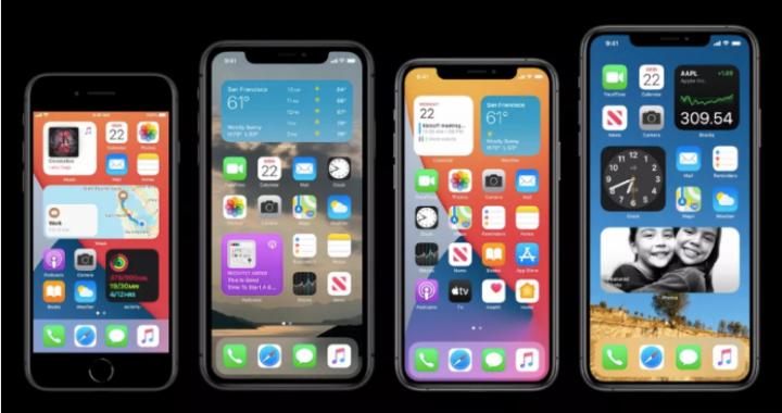 Me iOS 14, Apple ridizajnon ekranin e iPhone