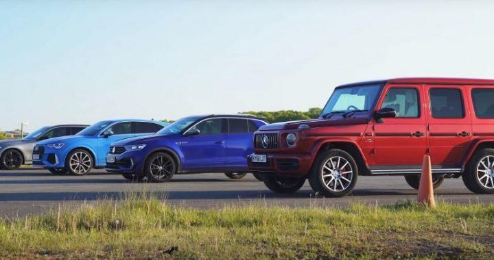 Garë interesante ndërmjet AMG G63, BMW M340i, Audi RSQ3, dhe VW T-Roc R