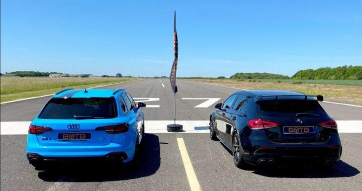 Mercedes-AMG A45 S në një duel interesant me Audi RS4 Avant, rezultati impresionues
