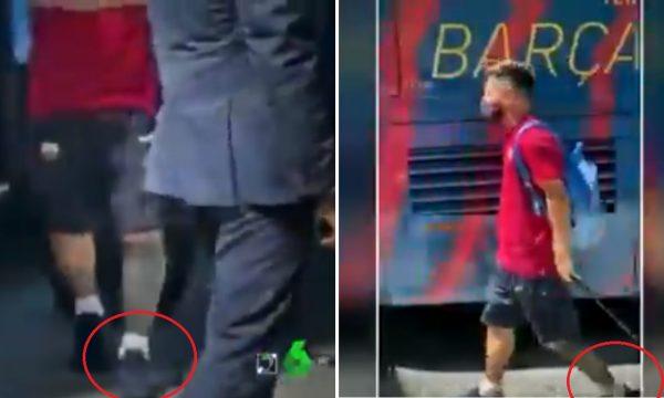 Pamje shqetësuese të Messit para ndeshjes me Bayernin
