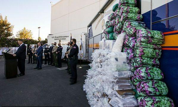 Policia amerikane gjen sasi rekorde prej 1.008 kg metamfetaminë e 405 kg kokainë