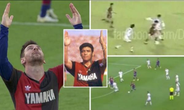E pabesueshme: Messi e rikrijoi golin e Maradonës kundër Osasunës dhe ia kushtoi atij